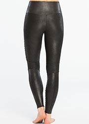 Spanx Faux Leather Moto Leggings Zoom 4