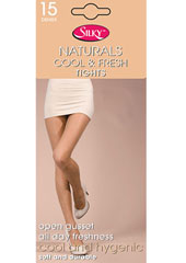 Silky Naturals Cool And Fresh Open Gusset Tights