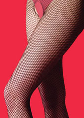 Silky Scarlet Fishnet Bodystocking Zoom 2