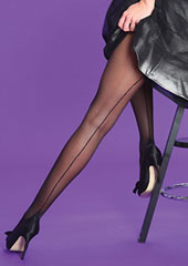 Silky Scarlet Seamer Tights