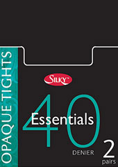Silky Essentials 40 Denier Opaque Tights 2 Pair Pack