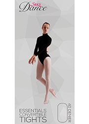 Silky Dance Essentials Childrens Convertible Ballet Tights Zoom 1