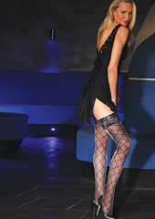 Silky Party Foxtrot Diamond Glitter Hold Ups Zoom 1