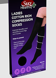Silky Ladies Cotton Rich Compression Socks Zoom 2