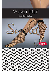 Silky Scarlet Whale Net Ankle Highs Zoom 1