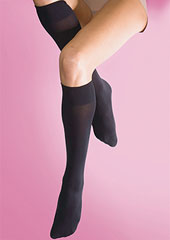 Silky Soft Opaque 70 Denier Knee Highs Zoom 2