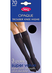 Silky Super Value 70 Denier Trouser Knee Highs 3PP