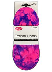 Silky Tie Dye Trainer Liners 2 Pair Pack Zoom 2