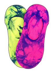 Silky Tie Dye Trainer Liners 2 Pair Pack