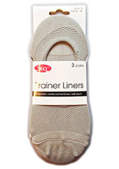 Silky Trainer Liners 3 Pair Pack Zoom 2