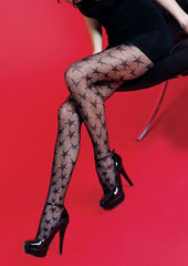 Silky Scarlet Star Fishnet Tights Zoom 1