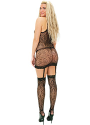Tiffany Quinn Elena Fishnet Dress And Stockings Zoom 2