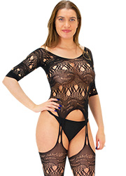 Tiffany Quinn Jessica Three Quarter Sleeve Lace Bodystocking Zoom 2