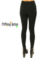 Tiffany Quinn Plain Black Leggings Zoom 1