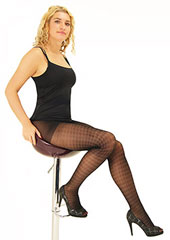 Tiffany Quinn Sheer Houndstooth Tights Zoom 1