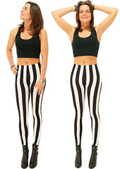 Tiffany Quinn Vertical Stripe Leggings Zoom 2