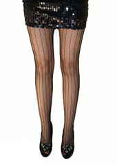 Tiffany Quinn Vertical Stripe Fishnet Tights Zoom 1