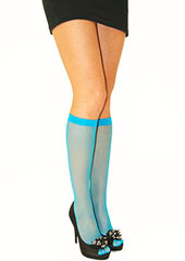Trasparenze Ambra Coloured Fishnet Knee Highs Zoom 2