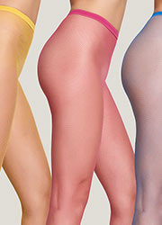 Trasparenze Ambra Coloured Fishnet Tights Zoom 2