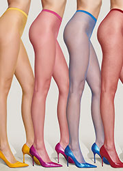Trasparenze Ambra Coloured Fishnet Tights Zoom 1