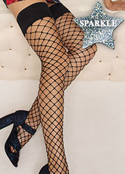 Trasparenze Ananas Sparkle Net Hold Ups Zoom 2