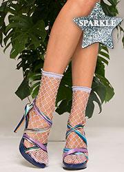 Trasparenze Ananas Sparkle Net Socks