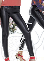 Trasparenze Black Russian Faux Leather leggings Zoom 2