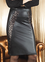 Trasparenze Fluorite Leather Look Skirt Zoom 2