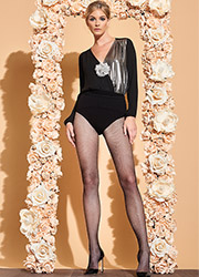 Trasparenze Gardenia Lurex Fishnet Tights Zoom 2