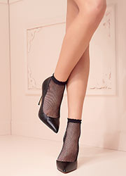 Trasparenze Idra Fishnet Ankle Highs