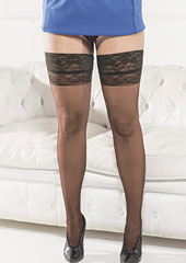 Trasparenze Margherita Plus Size Hold Ups Zoom 2