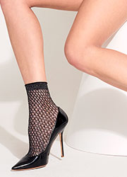 Trasparenze Renoir Lurex Mesh Ankle Highs Zoom 2