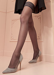 Trasparenze Rosy Lace Top Hold Ups Zoom 2