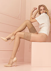 Trasparenze Voile Lustre Sheer Hold Ups Zoom 1