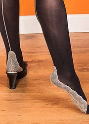 What Katie Did Opaque Seamed Tights Black Zoom 3