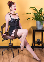 What Katie Did Glamour Contrast Seamed Stockings Coffee Zoom 3