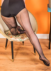What Katie Did Retro Seamed Tights Black Zoom 2