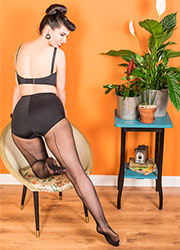 What Katie Did Retro Seamed Tights Black