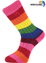 Win or Lose Rainbow Multi Stripe Cotton Socks