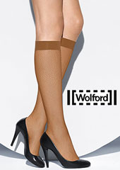 Wolford Twenties Fishnet Knee Highs Zoom 2