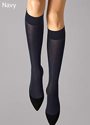 Wolford Cotton Knee Highs Zoom 2