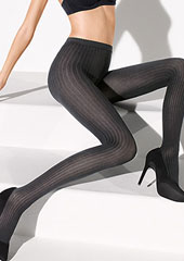 Wolford Fine Cotton Rib Tights Zoom 2