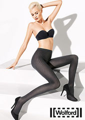 Wolford Fine Cotton Rib Tights Zoom 1
