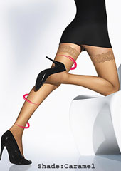 Wolford Individual 10 Medium Support Hold Ups Zoom 2