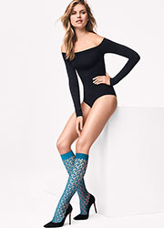 Wolford Net Knee Highs Zoom 2