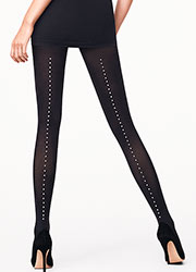 Wolford Pearl Backseam Fashion Tights Zoom 1