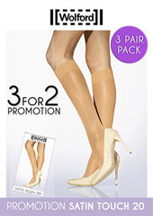 4da1e3d57aadc Wolford Satin Touch 20 Knee Highs 3 for 2 Promotion Option Here