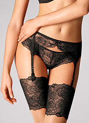 Wolford Stretch Lace Suspender Belt Zoom 3