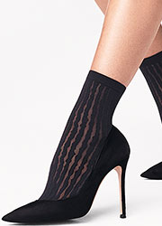 Wolford Stripes Ankle Highs Zoom 2