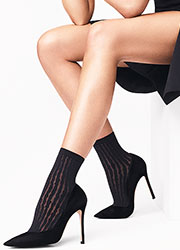 Wolford Stripes Ankle Highs
